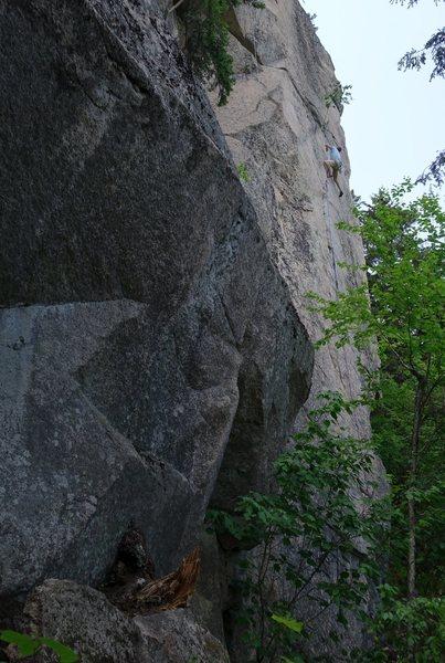 Rock Climbing Photo: Adam on sighting Steady Yeti