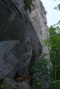 Rock Climbing Photo: Adam on sighting Steady Yeti