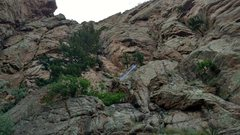 Rock Climbing Photo: The view of the start of the climb as you approach...