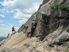 Rock Climbing Photo: The Death Zone...Watch for loose pieces of our OLD...