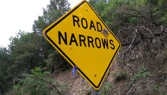 "Rock Climbing Photo: ""One lane Bridge"" sign is no longer ther..."
