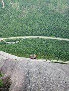 Rock Climbing Photo: Belay Below the Weissner Corner