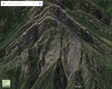 This is the route I took to reach the south summit and hike down the trail.