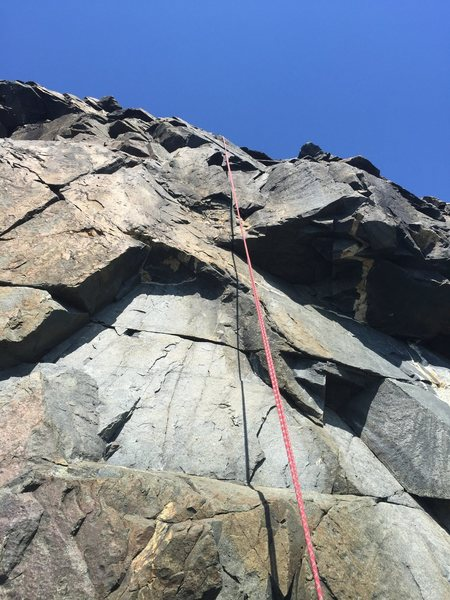 I'm pretty sure this is the start of Highlander. I meant to drop into First Light and Morning Glory and wound up up having to rope ascend up. It wasn't fun. If anyone notices this photo is on the wrong route, please let me know and I'll be glad to move it.