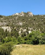 Rock Climbing Photo: The crag at Les Guions as seen from the N94 in St ...