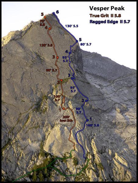 Rock Climbing Photo: FA topo