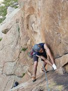 Rock Climbing Photo: Finishing up P1.