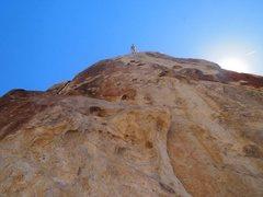 Rock Climbing Photo: nearing the chains on sharp, sharp holds