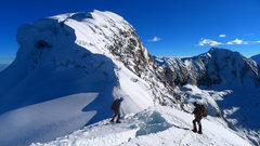 Rock Climbing Photo: Vallunaraju main summit as seen from partway up th...