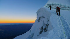 Rock Climbing Photo: Dawn near the summit of Vallunaraju.