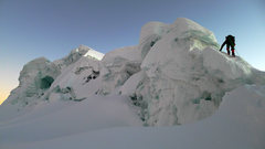 Rock Climbing Photo: Vallunaraju summit ridge.