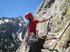 "Nobuyuki ""Yuki"" Fujita on the second pitch of the Highway to Heaven route."