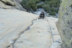 Rock Climbing Photo: My good friend Keith having fun the first pitch of...