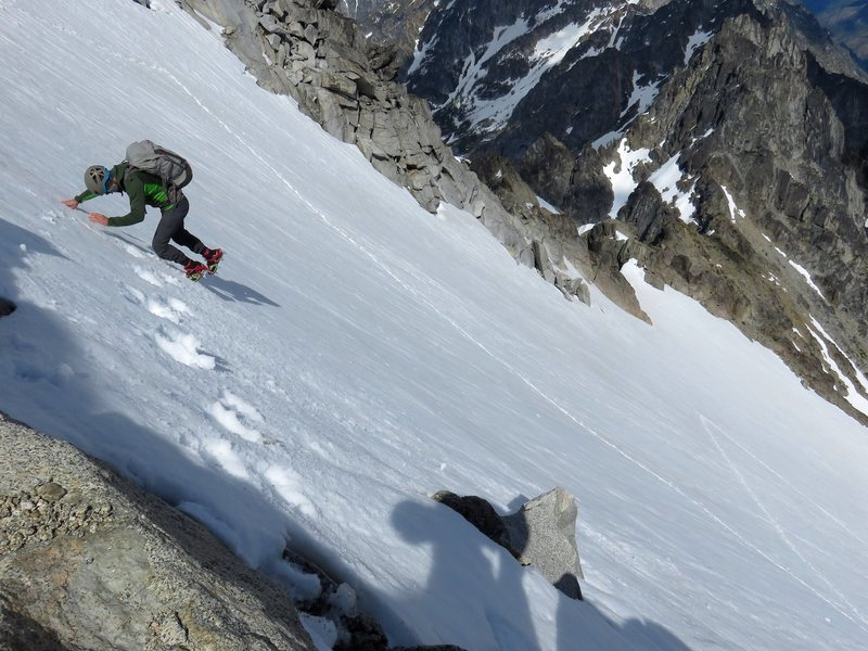 Taken on the descent from the summit to the col above Sherpa Glacier.