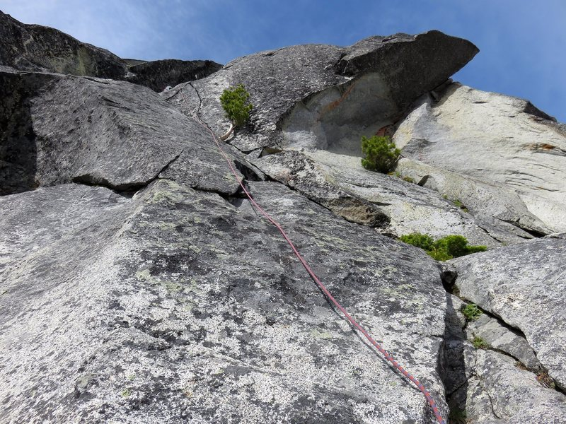 Pitch 1 of the lower North Ridge.