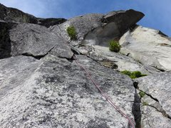 Rock Climbing Photo: Pitch 1 of the lower North Ridge.