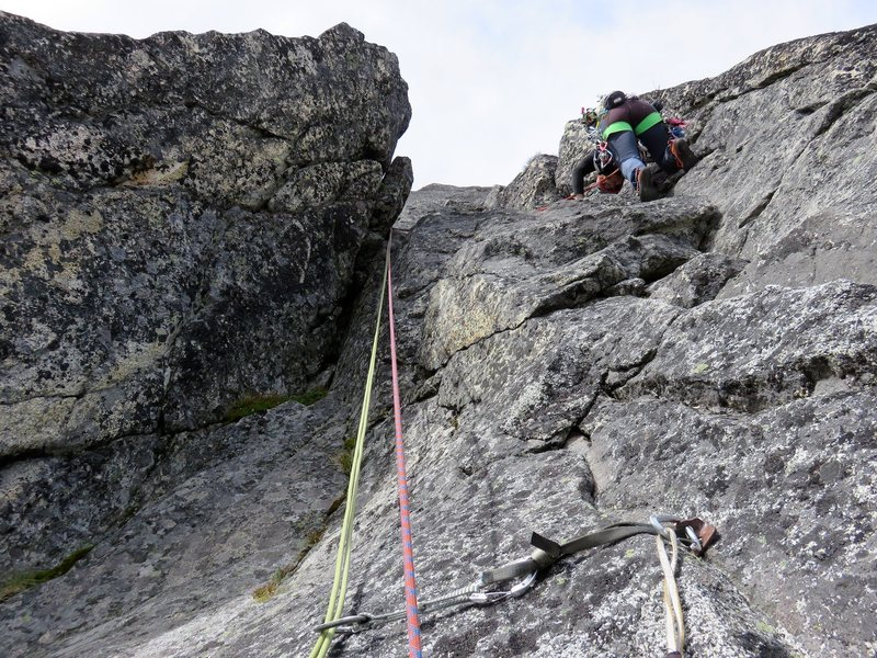 Pitch 2 of the lower North Ridge.