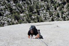Rock Climbing Photo: My good friend Keith having fun on the upper secti...