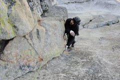 Rock Climbing Photo: My good friend having fun on Cooke Book
