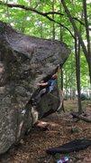 Rock Climbing Photo: Static to the jug
