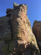 Rock Climbing Photo: Looking at the arete from the trail.
