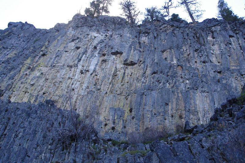 Rock Climbing Photo: Main Wall--center