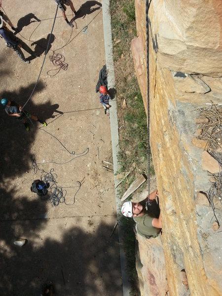 Brigham on Strippling Warrior at  Bear Canyon Lake
