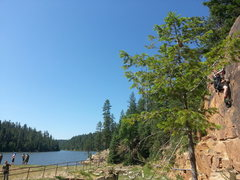 Rock Climbing Photo: Bear Canyon Lake