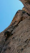 Rock Climbing Photo: P3 variation. left of chimney, more fun, and well ...