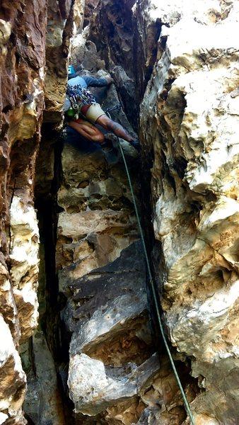 Rock Climbing Photo: P2 Radical!