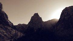 Rock Climbing Photo: sunset at pine creek