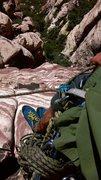 Rock Climbing Photo: nice ledge at top of p2