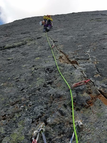Rock Climbing Photo: Start of P4