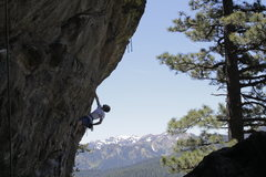 Rock Climbing Photo: Ford taking a rest with a view