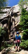 Rock Climbing Photo: Looking up Landslide.