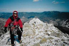 Rock Climbing Photo: Bob Adams on top !