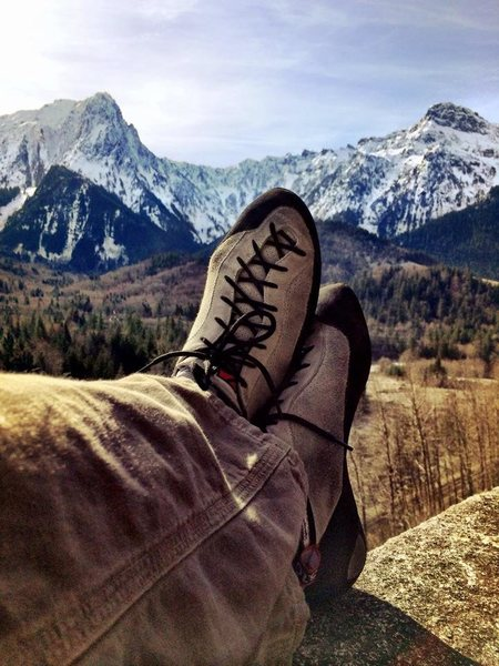 Rock Climbing Photo: testing shoes on a glorious dry winter day at Inde...