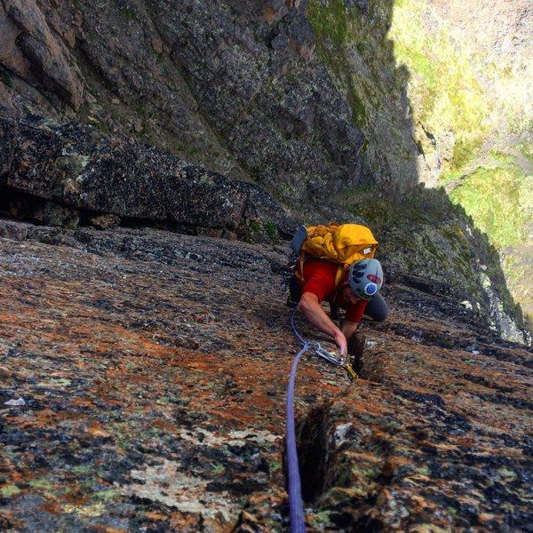 Rock Climbing Photo: Mat on pitch 2