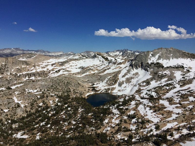 Budd Lake from Cathedral Peak