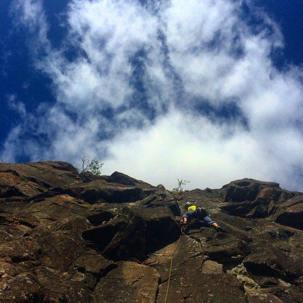 Rock Climbing Photo: Mat leading Shakti