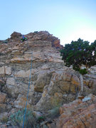 Rock Climbing Photo: Pitch 1. Note the juniper marking the start of the...