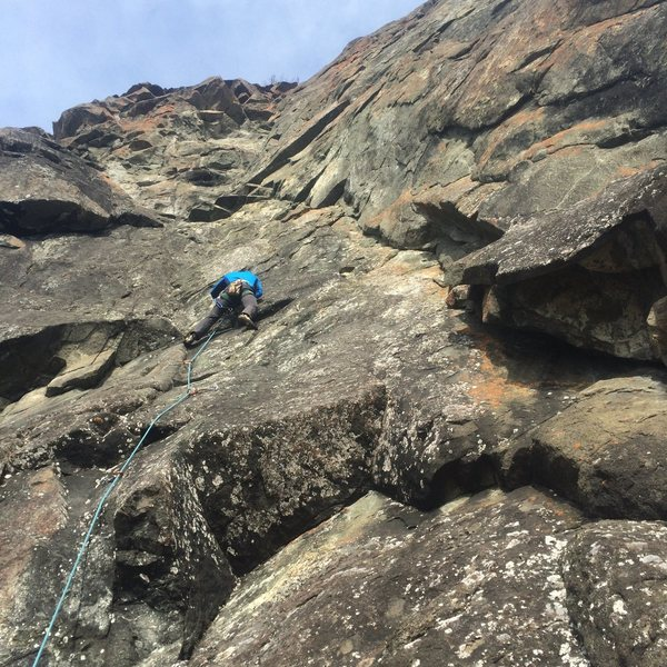 Rock Climbing Photo: Mat on Notoriously Outspoken
