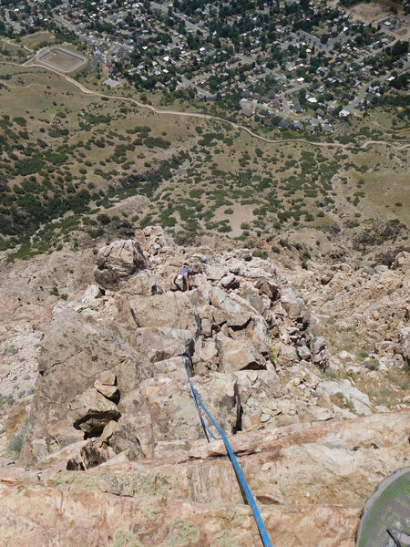 Looking down pitch 8, the final pitch
