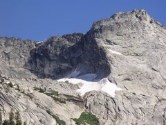 Rock Climbing Photo: The second snow patch is what got me.