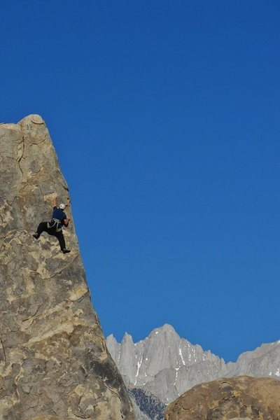 Having fun on Shark's Fin Arête