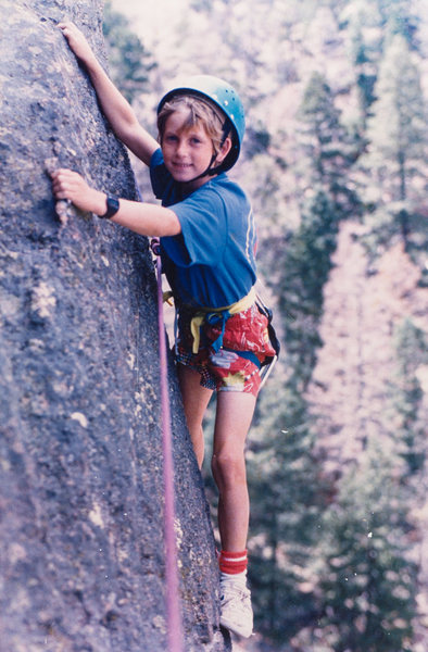 Jesse Carmichael, north face of the Maiden 1985. Age 7...