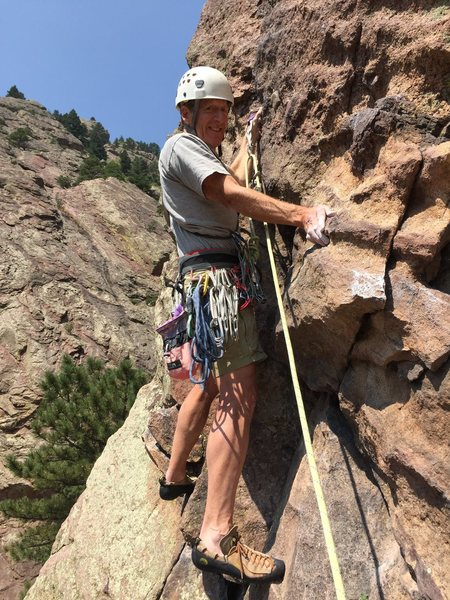 Bob Dugan Calypso 2015. Long ago climbing buddies meet up in Eldo...It ain't getting any easier ...