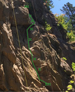 Rock Climbing Photo: Close up of Green Scare