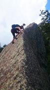 Rock Climbing Photo: Radical razor arete! Zach Nadiak, (P) Eirik Vigeru...