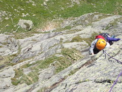 Rock Climbing Photo: An Ibex came up from the base and followed us.  Ma...